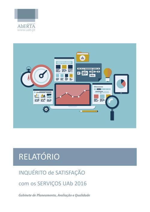 RELATORIO - INQUÉRITO DE SATISFAÇÃO COM OS SERVIÇOS UAb 2016