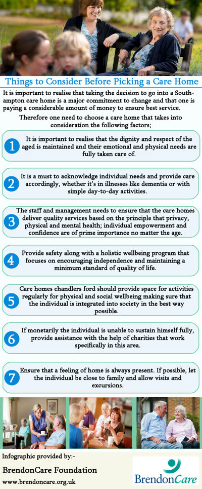 Things to Consider Before Picking a Care Home