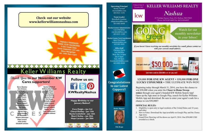 Keller Williams Nashua January 2014 Newsletter