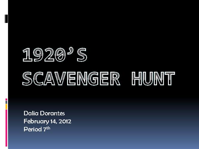 1920s Scavenger Hunt