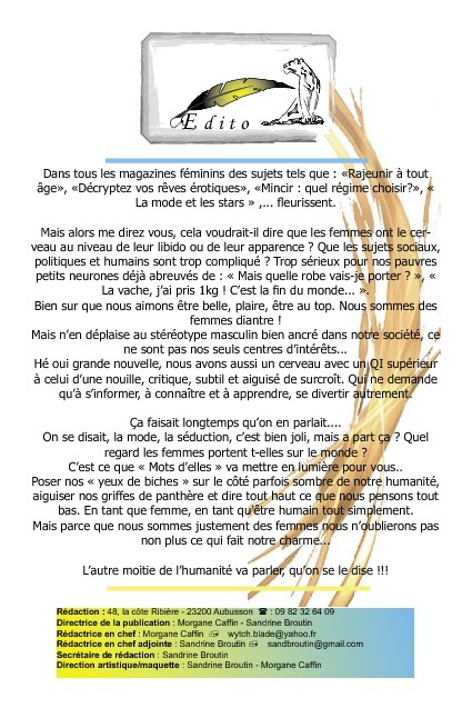 Copy of Mots d'Elles Edito n°1