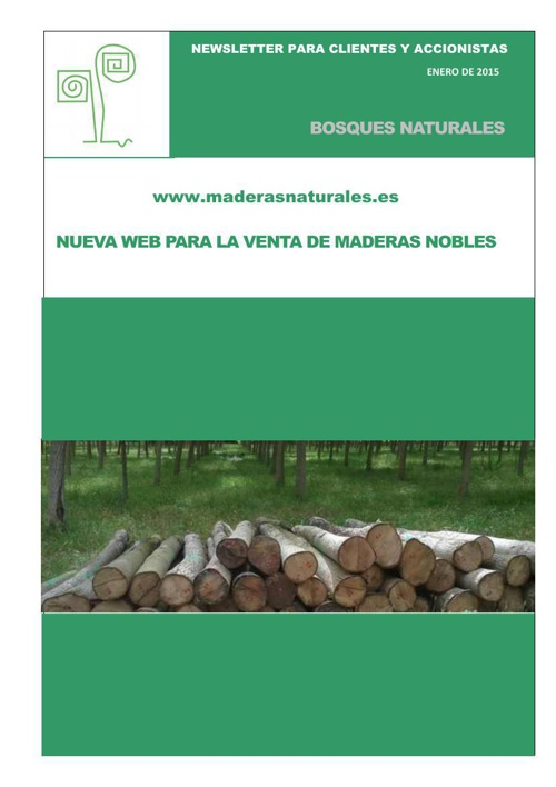 Newsletter Bosques Naturales enero 2015