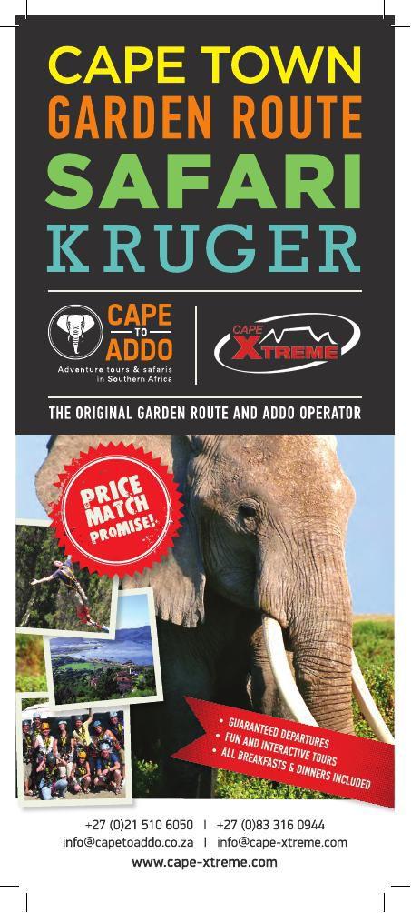 Cape To Addo brochure 2015