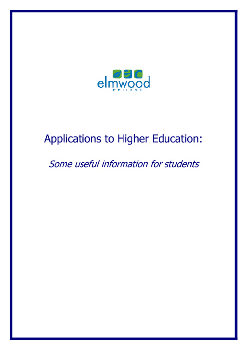 Applications to Higher Education