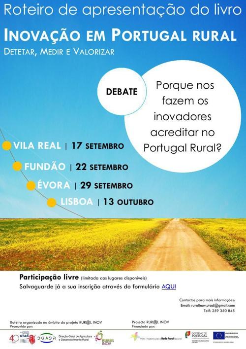 """Roteiro  de apresentação do livro """"Inovação em Portugal Rural"""""""
