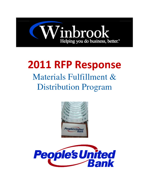 Winbrook RFP Response - Peoples United Bank