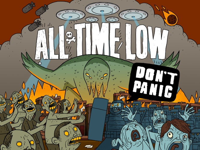 DIGITAL ALBUM ART- DON'T PANIC (ALL TIME LOW)