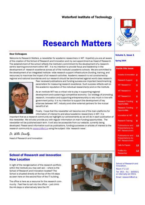 WIT Research Matters Archive