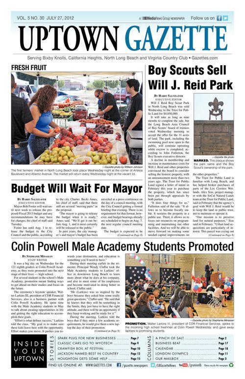 Uptown Gazette  |  July 27, 2012
