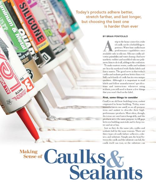 Caulks to Use