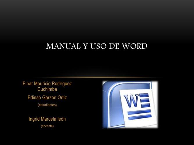 manual de uso de word