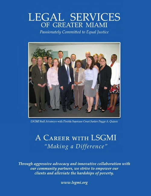 Consider a Career with Legal Services of Greater Miami