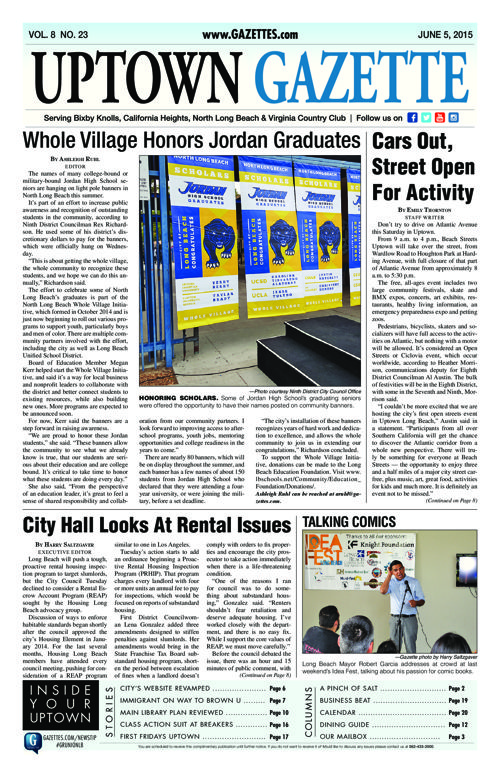 Uptown Gazette  |  June 5, 2015