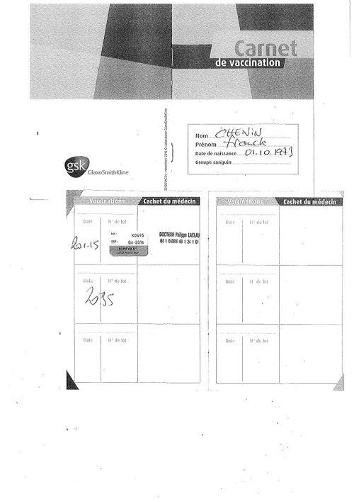 photocopie carnet de vaccination