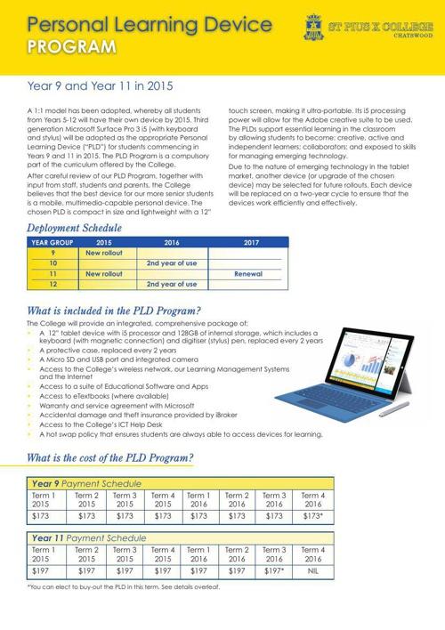 PLD Program Year 9 & 11 in 2015
