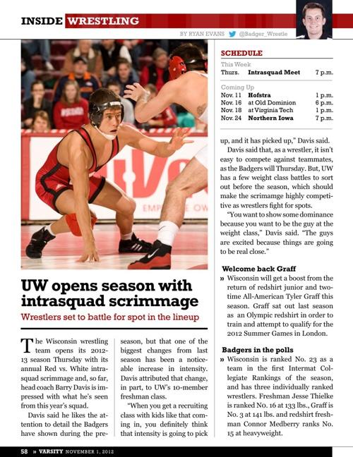 Varsity Magazine: Inside Wrestling 2012-13