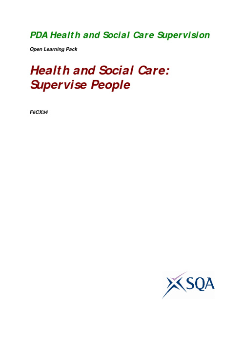 PDA Health and Social Care Supervision