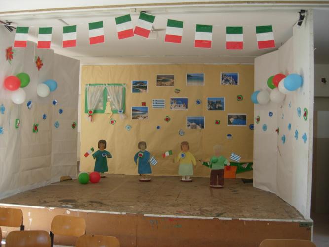 Accoglienza di una scuola greca di Tripolis