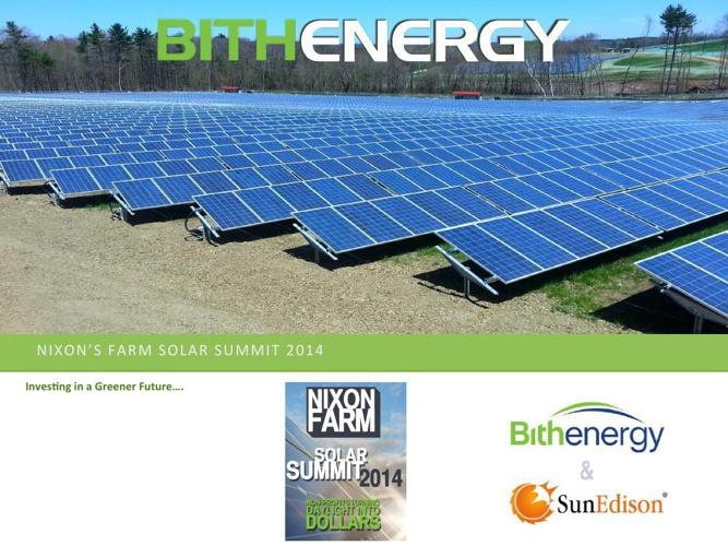 Solar Summit 2014 Presentation