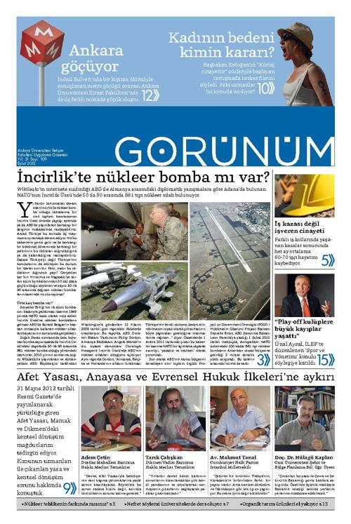 Görünüm 109 - Eylül 2012