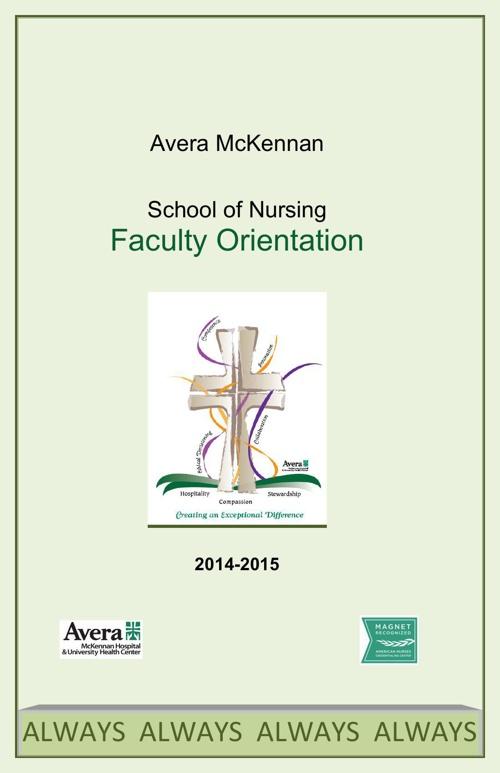 Avera McKennan School of Nursing Faculty Orientation 2014-2015