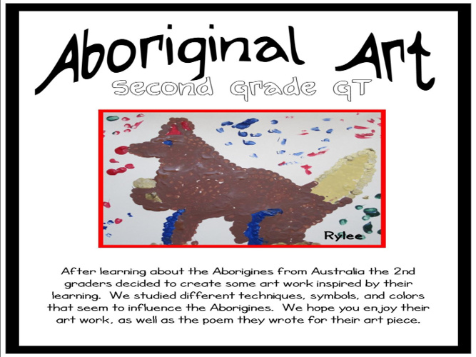 Aboriginal Art by Second Grade GT