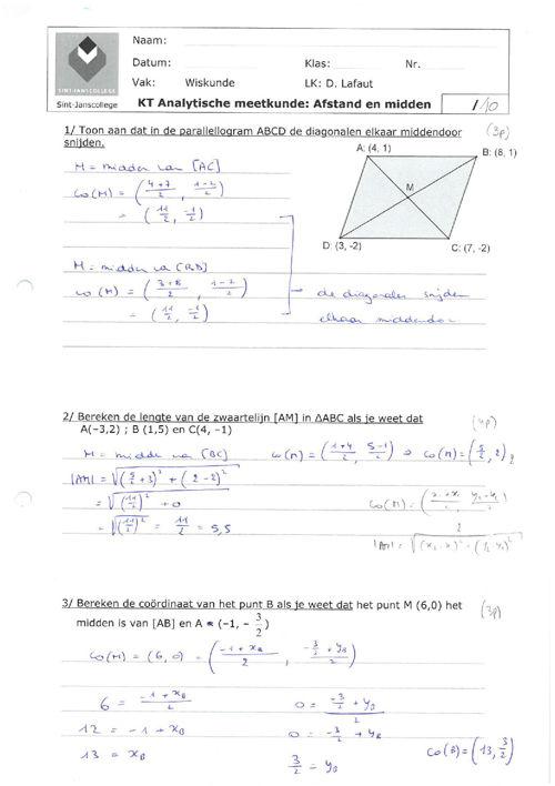 KT Analytische meetkunde_Afstand en midden