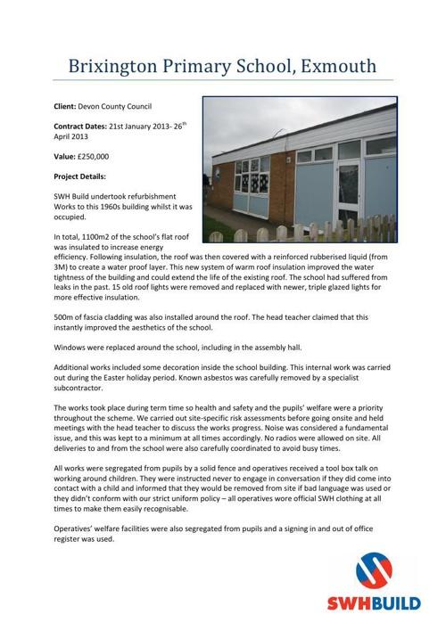 Brixington Primary School Case Study