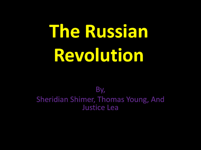 Russian Revolution-Shimer, Young, Lea, Fulk