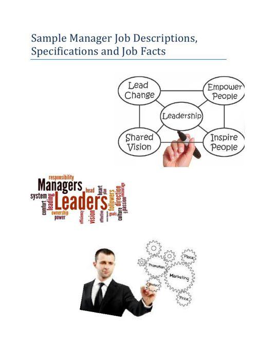 Sample Manager Job Descriptions