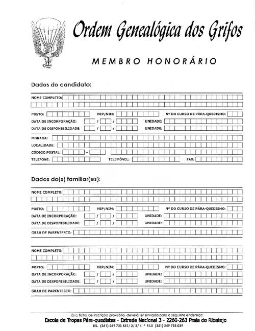 Grifos de Honra (impresso)
