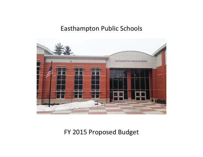 Copy of Easthampton Public Schools proposed FY 2015 budget