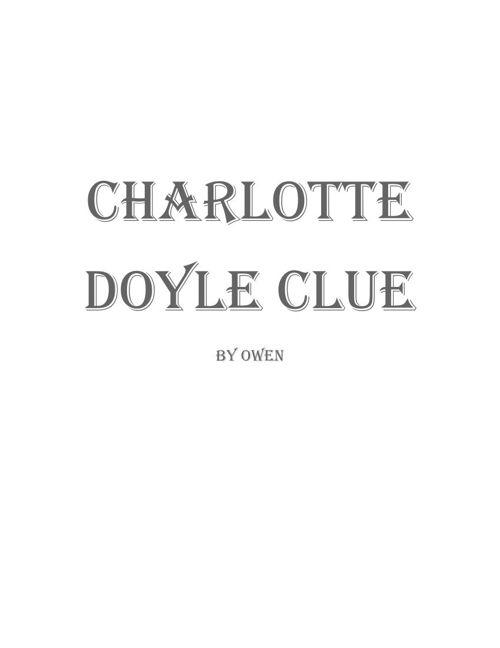Charlotte Doyle Clue