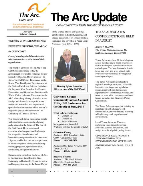 Arc newsletter JULY2013tter