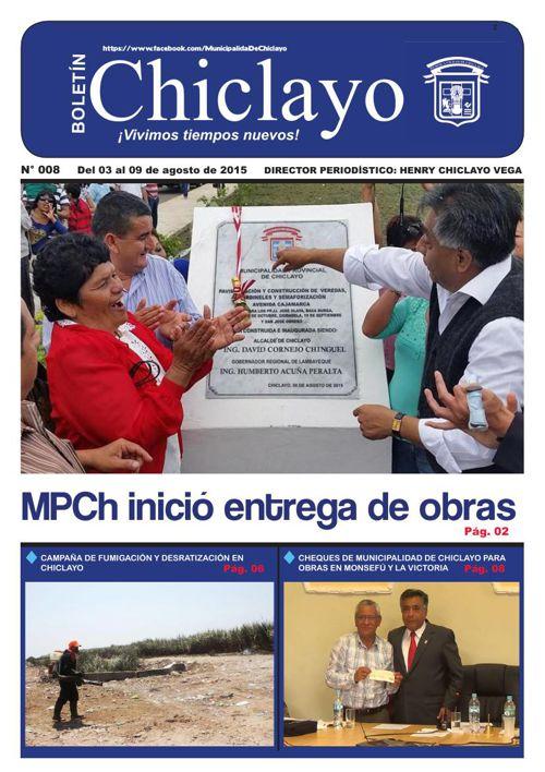 """Boletín """"Chiclayo"""" - N° 008"""