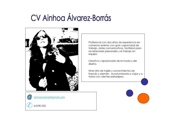 CV Ainhoa Alvarez-Borrás