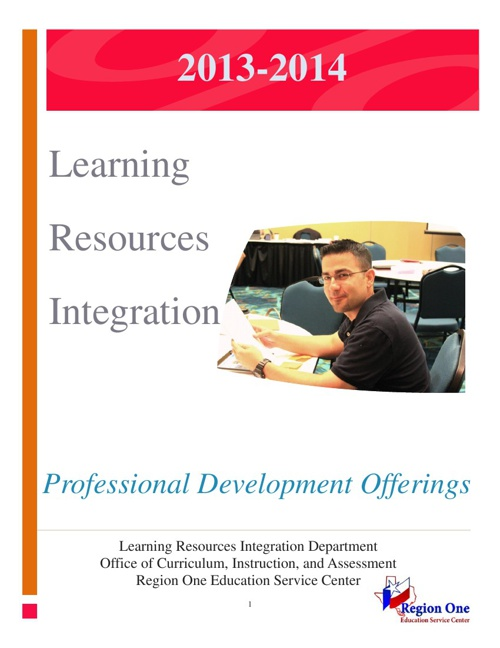 Learning Resources Integration PD Offerings