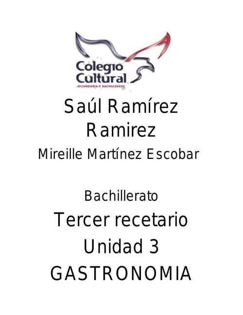 Recetario Saul Ramirez