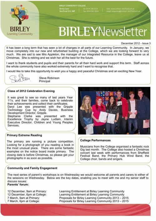 Birley Newsletter 2012