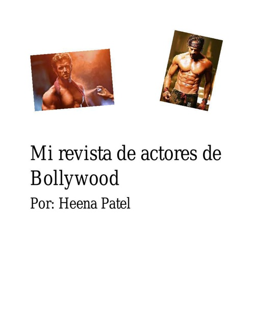 Mi revista de actores de Bollywood