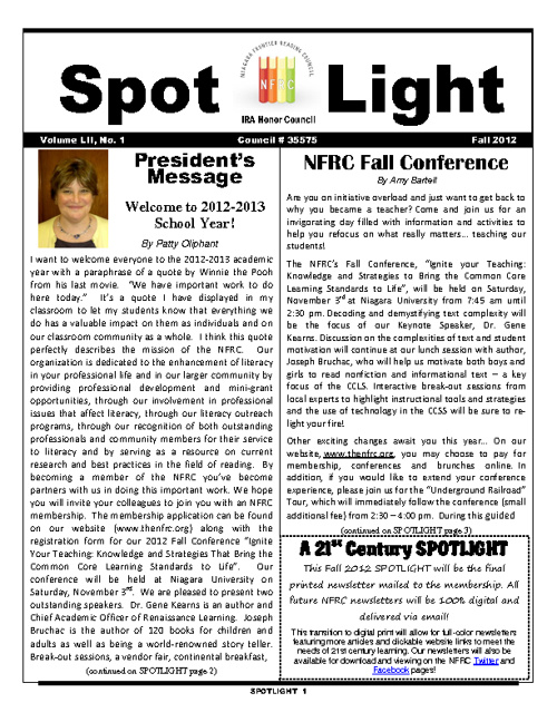 NFRC -- Fall Spotlight 2012