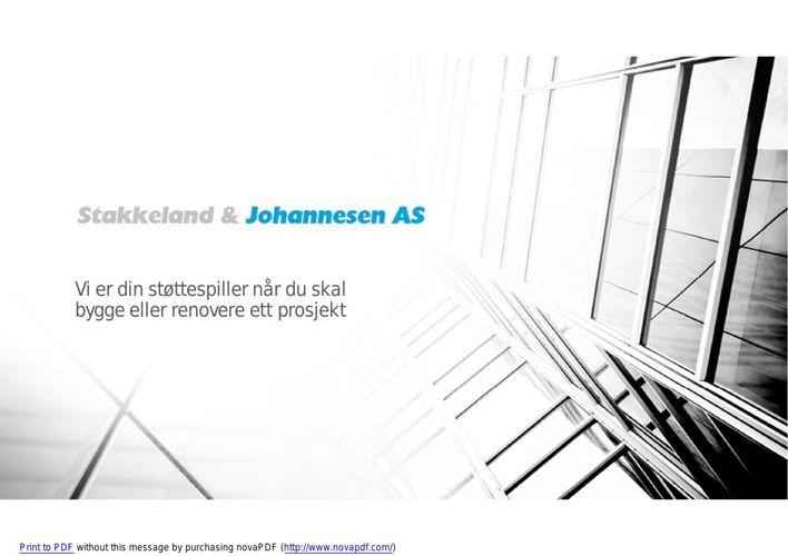 Bygg/Prosjektledelse - Stakkeland & Johannesen AS