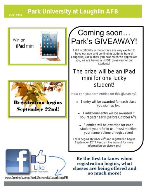 Fall I 2014 Newsletter