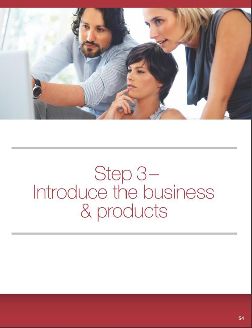 Step 3 - Introduce the Business & Products