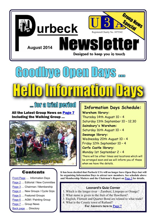 Newsletter 2014-08