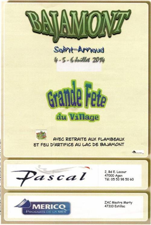 Programme Fête Bajamont 2014