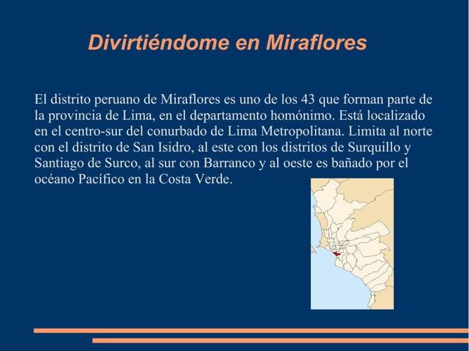 Lugares turísticos en Miraflores