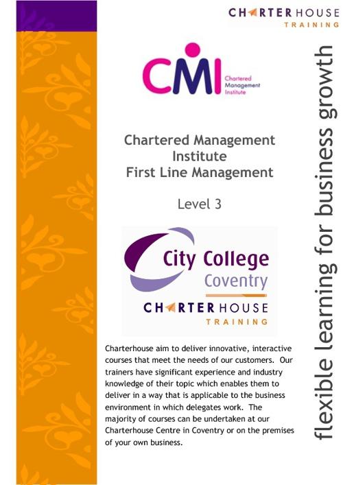 CMI Level 3 Course Details