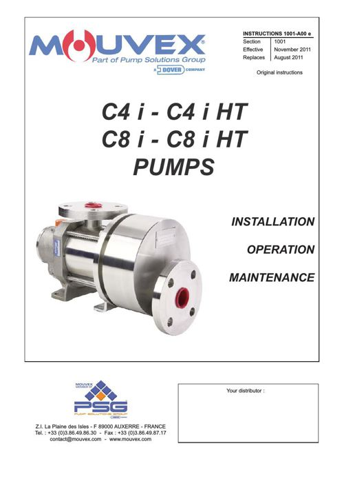 Mouvex C4i - C4i HT & C8i - C8i HT Installation