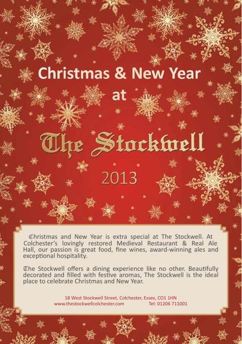 The Stockwell Xmas Menu 2013